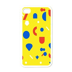 Circle Triangle Red Blue Yellow White Sign Apple Iphone 4 Case (white) by Alisyart