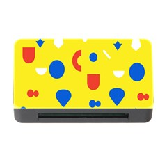 Circle Triangle Red Blue Yellow White Sign Memory Card Reader With Cf by Alisyart
