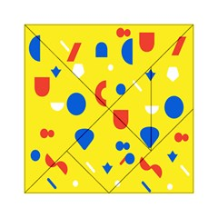 Circle Triangle Red Blue Yellow White Sign Acrylic Tangram Puzzle (6  X 6 ) by Alisyart