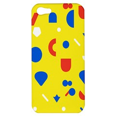 Circle Triangle Red Blue Yellow White Sign Apple Iphone 5 Hardshell Case by Alisyart