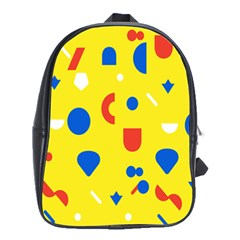 Circle Triangle Red Blue Yellow White Sign School Bags (xl)