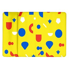 Circle Triangle Red Blue Yellow White Sign Samsung Galaxy Tab 10 1  P7500 Flip Case