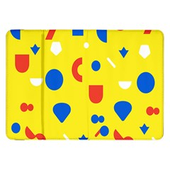 Circle Triangle Red Blue Yellow White Sign Samsung Galaxy Tab 8 9  P7300 Flip Case by Alisyart