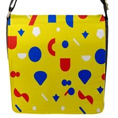 Circle Triangle Red Blue Yellow White Sign Flap Messenger Bag (s) by Alisyart