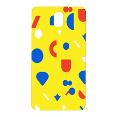 Circle Triangle Red Blue Yellow White Sign Samsung Galaxy Note 3 N9005 Hardshell Back Case by Alisyart