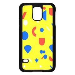 Circle Triangle Red Blue Yellow White Sign Samsung Galaxy S5 Case (black) by Alisyart