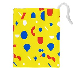 Circle Triangle Red Blue Yellow White Sign Drawstring Pouches (xxl)