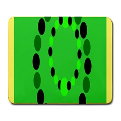 Circular Dot Selections Green Yellow Black Large Mousepads