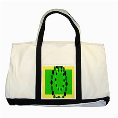 Circular Dot Selections Green Yellow Black Two Tone Tote Bag