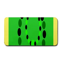 Circular Dot Selections Green Yellow Black Medium Bar Mats by Alisyart