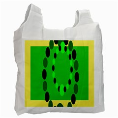Circular Dot Selections Green Yellow Black Recycle Bag (one Side) by Alisyart
