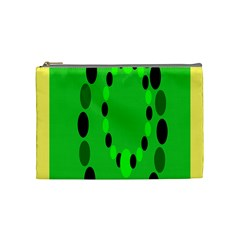 Circular Dot Selections Green Yellow Black Cosmetic Bag (medium)  by Alisyart