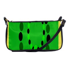 Circular Dot Selections Green Yellow Black Shoulder Clutch Bags by Alisyart