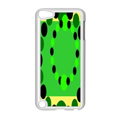 Circular Dot Selections Green Yellow Black Apple Ipod Touch 5 Case (white) by Alisyart