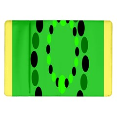 Circular Dot Selections Green Yellow Black Samsung Galaxy Tab 10 1  P7500 Flip Case by Alisyart