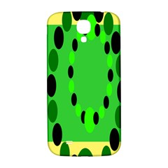 Circular Dot Selections Green Yellow Black Samsung Galaxy S4 I9500/i9505  Hardshell Back Case by Alisyart