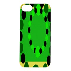 Circular Dot Selections Green Yellow Black Apple Iphone 5s/ Se Hardshell Case by Alisyart