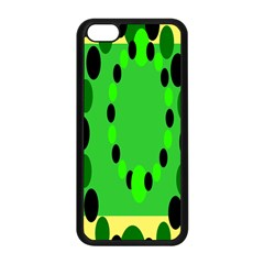 Circular Dot Selections Green Yellow Black Apple Iphone 5c Seamless Case (black) by Alisyart