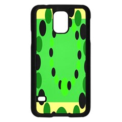 Circular Dot Selections Green Yellow Black Samsung Galaxy S5 Case (black) by Alisyart
