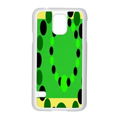 Circular Dot Selections Green Yellow Black Samsung Galaxy S5 Case (white)