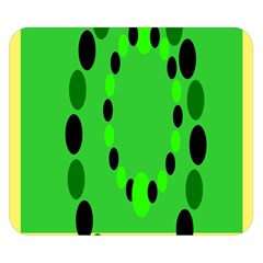 Circular Dot Selections Green Yellow Black Double Sided Flano Blanket (small)  by Alisyart