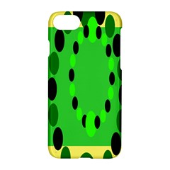 Circular Dot Selections Green Yellow Black Apple Iphone 7 Hardshell Case by Alisyart