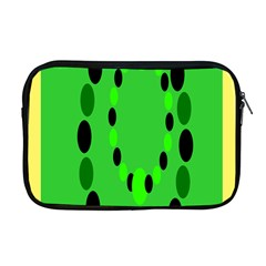 Circular Dot Selections Green Yellow Black Apple Macbook Pro 17  Zipper Case