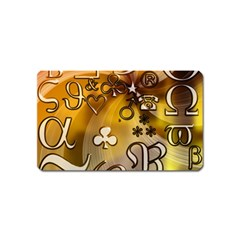 Symbols On Gradient Background Embossed Magnet (name Card) by Amaryn4rt