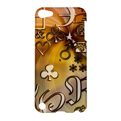 Symbols On Gradient Background Embossed Apple Ipod Touch 5 Hardshell Case by Amaryn4rt