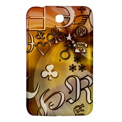 Symbols On Gradient Background Embossed Samsung Galaxy Tab 3 (7 ) P3200 Hardshell Case  by Amaryn4rt