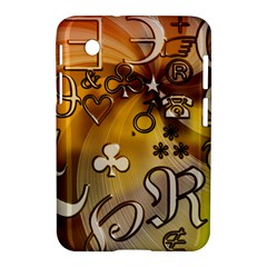 Symbols On Gradient Background Embossed Samsung Galaxy Tab 2 (7 ) P3100 Hardshell Case  by Amaryn4rt