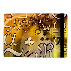Symbols On Gradient Background Embossed Samsung Galaxy Tab Pro 10 1  Flip Case by Amaryn4rt