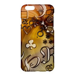 Symbols On Gradient Background Embossed Apple Iphone 6 Plus/6s Plus Hardshell Case by Amaryn4rt