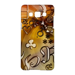 Symbols On Gradient Background Embossed Samsung Galaxy A5 Hardshell Case  by Amaryn4rt