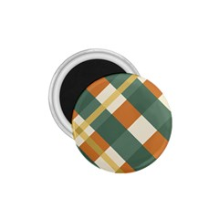 Autumn Plaid 1 75  Magnets by Alisyart