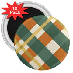 Autumn Plaid 3  Magnets (10 Pack)  by Alisyart