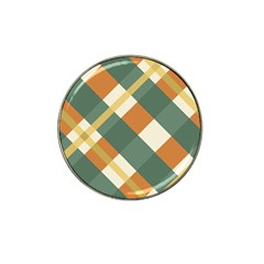 Autumn Plaid Hat Clip Ball Marker by Alisyart