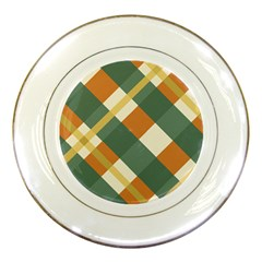 Autumn Plaid Porcelain Plates by Alisyart