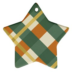 Autumn Plaid Star Ornament (two Sides)