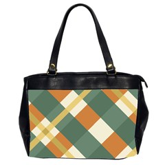 Autumn Plaid Office Handbags (2 Sides)  by Alisyart