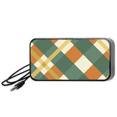 Autumn Plaid Portable Speaker (black) by Alisyart