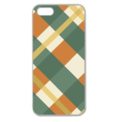 Autumn Plaid Apple Seamless Iphone 5 Case (clear) by Alisyart