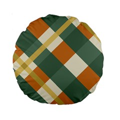 Autumn Plaid Standard 15  Premium Round Cushions by Alisyart