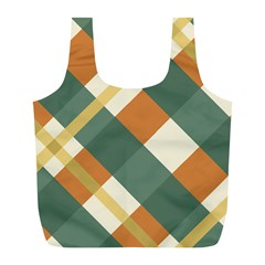 Autumn Plaid Full Print Recycle Bags (l)  by Alisyart