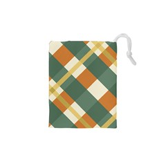 Autumn Plaid Drawstring Pouches (xs)  by Alisyart