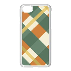Autumn Plaid Apple Iphone 7 Seamless Case (white) by Alisyart