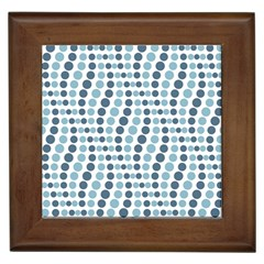 Circle Blue Grey Line Waves Framed Tiles