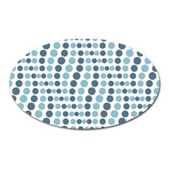 Circle Blue Grey Line Waves Oval Magnet by Alisyart