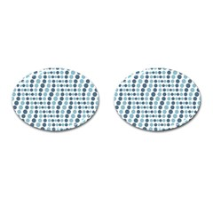Circle Blue Grey Line Waves Cufflinks (oval) by Alisyart