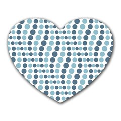 Circle Blue Grey Line Waves Heart Mousepads by Alisyart